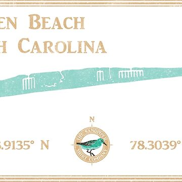 Holden Beach, NC map by The Sandpiper Shirt Co. by LaunchMission