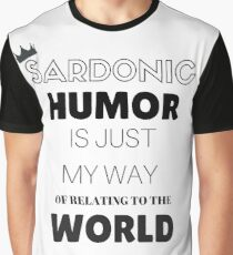 Sardonic Humor - Jughead - Riverdale Graphic T-Shirt