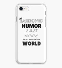 Sardonic Humor - Jughead - Riverdale iPhone Case/Skin