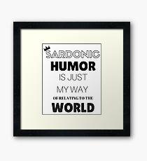Sardonic Humor - Jughead - Riverdale Framed Print