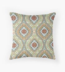 Fabric Art, Pattern, Moroccan Tapestry Print Throw Pillow