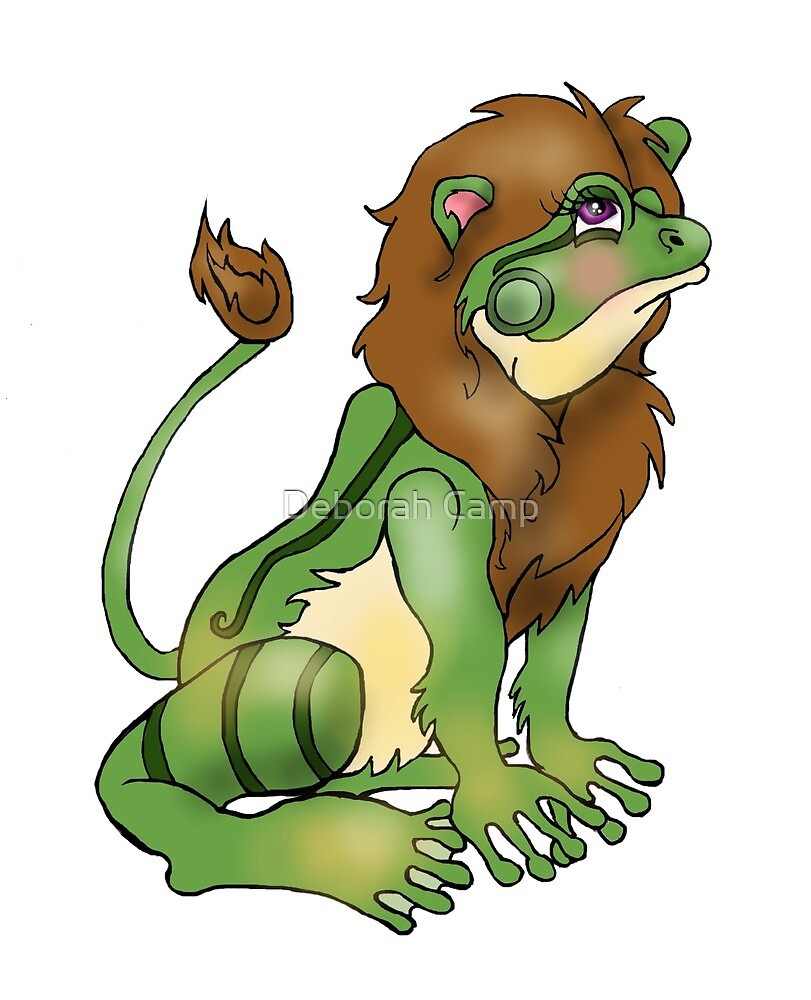 Hybrid Lion Frog by Deborah Camp