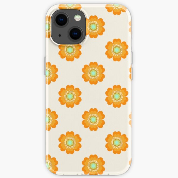 4 Sho - 70's retro 1970's throwback pattern floral flower motif decor hipster by Seventy Eight iPhone Soft Case