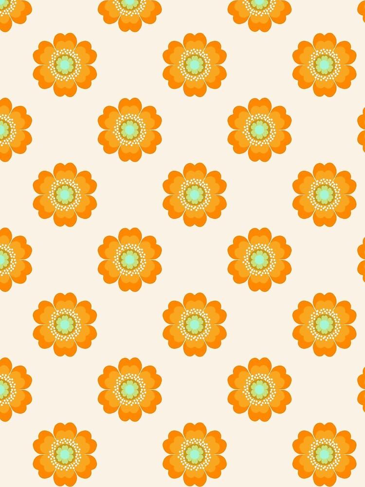 4 Sho - 70's retro 1970's throwback pattern floral flower motif decor hipster by Seventy Eight by 78designs