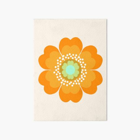 Jivin' - 70's retro throwback art floral flower motif decor hipster by Seventy Eight Art Board Print