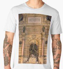 Historic Fontaine Saint-Michel © Men's Premium T-Shirt