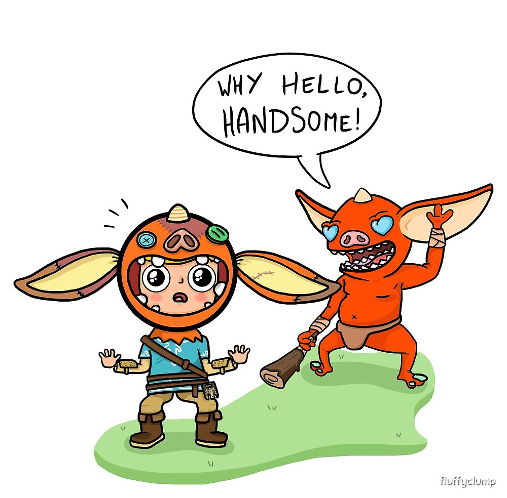 Breath of the wild: Link as a Bokoblin by fluffyclump