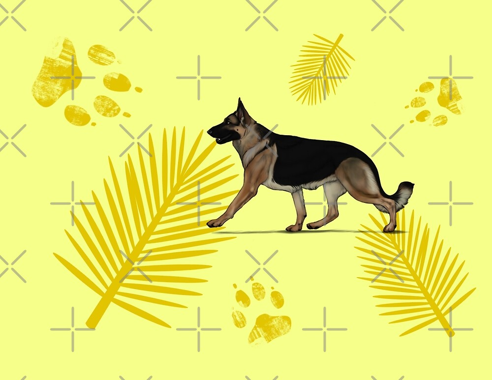 yellow Palms GSD by mclaurin612