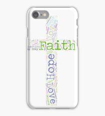 Faith Hope and Love Christian Word Cloud iPhone Case/Skin