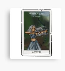 Artemis tarot card Canvas Print