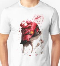 Hellboy Watercolor Design Comic Fanart T-Shirt