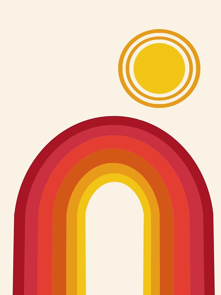 Far Out - retro throwback 70s 1970s sun planet beach 70's vibes minimal art by Seventy Eight by 78designs