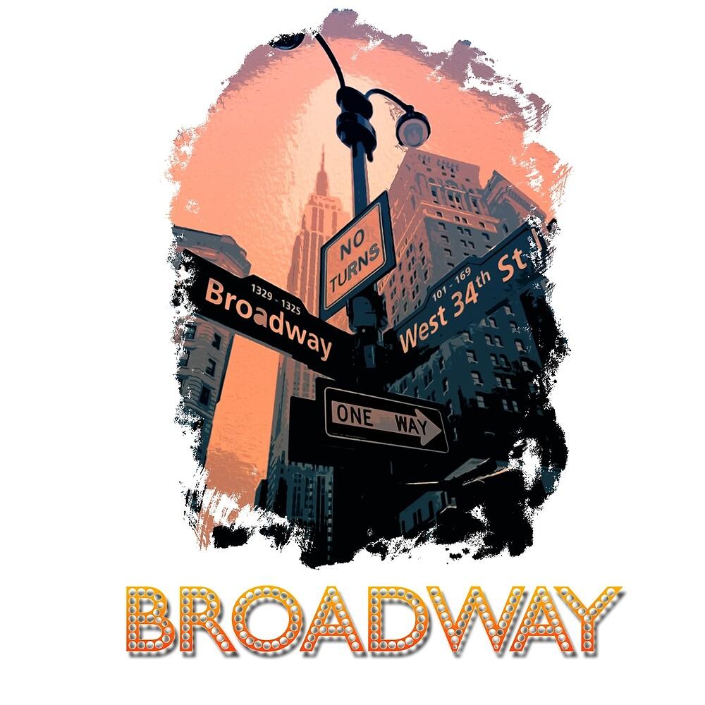Broadway - New York City by Andrea Mazzocchetti