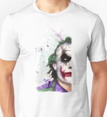 Joker DC Comics Batman Watercolor Serious Unisex T-Shirt