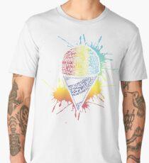 Snow Cone - Summer Typography Art Men's Premium T-Shirt