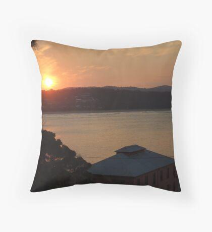 Sunset over Tathra Wharf Throw Pillow