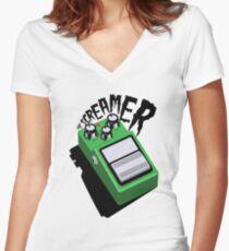 The Tube Screamer Women's Fitted V-Neck T-Shirt