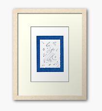 0813 - Blue like the Ocean Framed Print