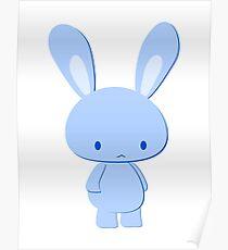 blau Hase Poster