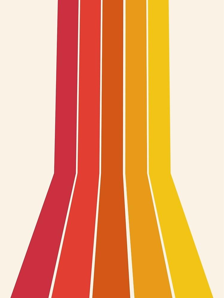 Rad - retro throwback 70s 1970s stripe beach 70's vibes minimal art by Seventy Eight by 78designs