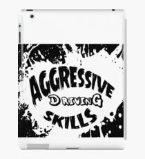aggressive driving skills  iPad Case/Skin