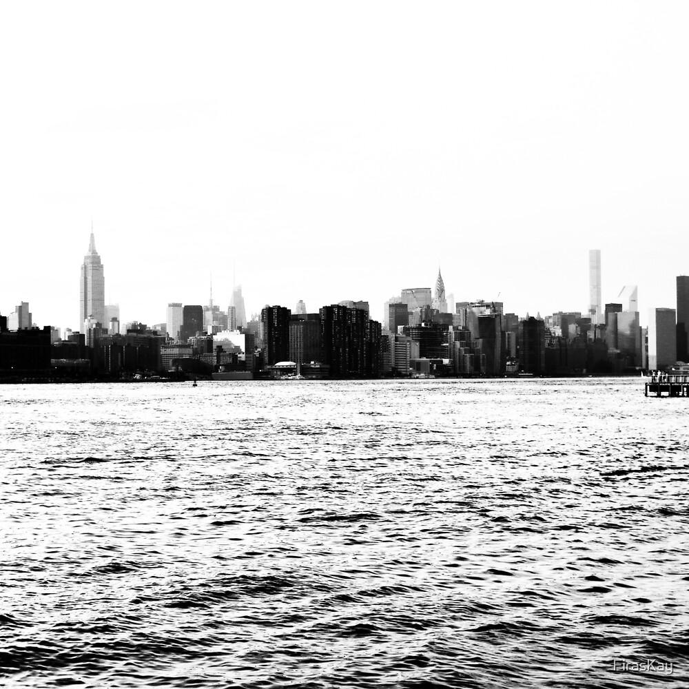Manhattan Silhouette by FirasKay