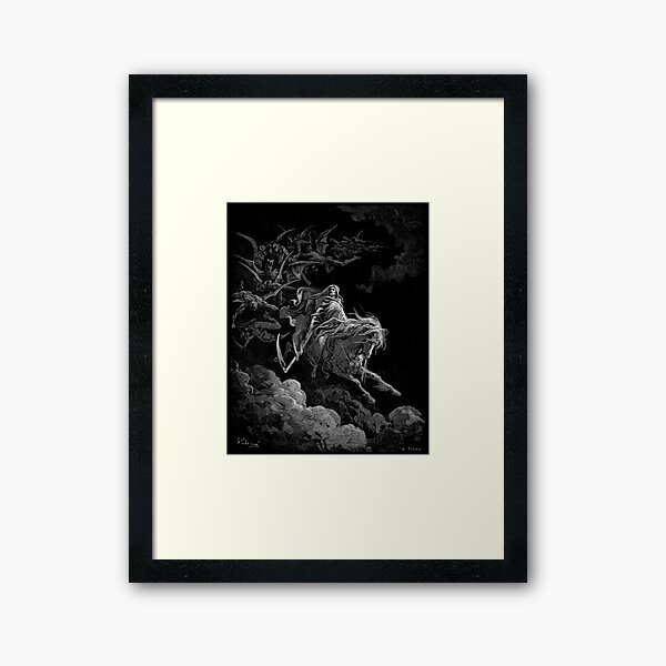 Gustave Dore - Death on the Pale Horse resized Framed Art Print