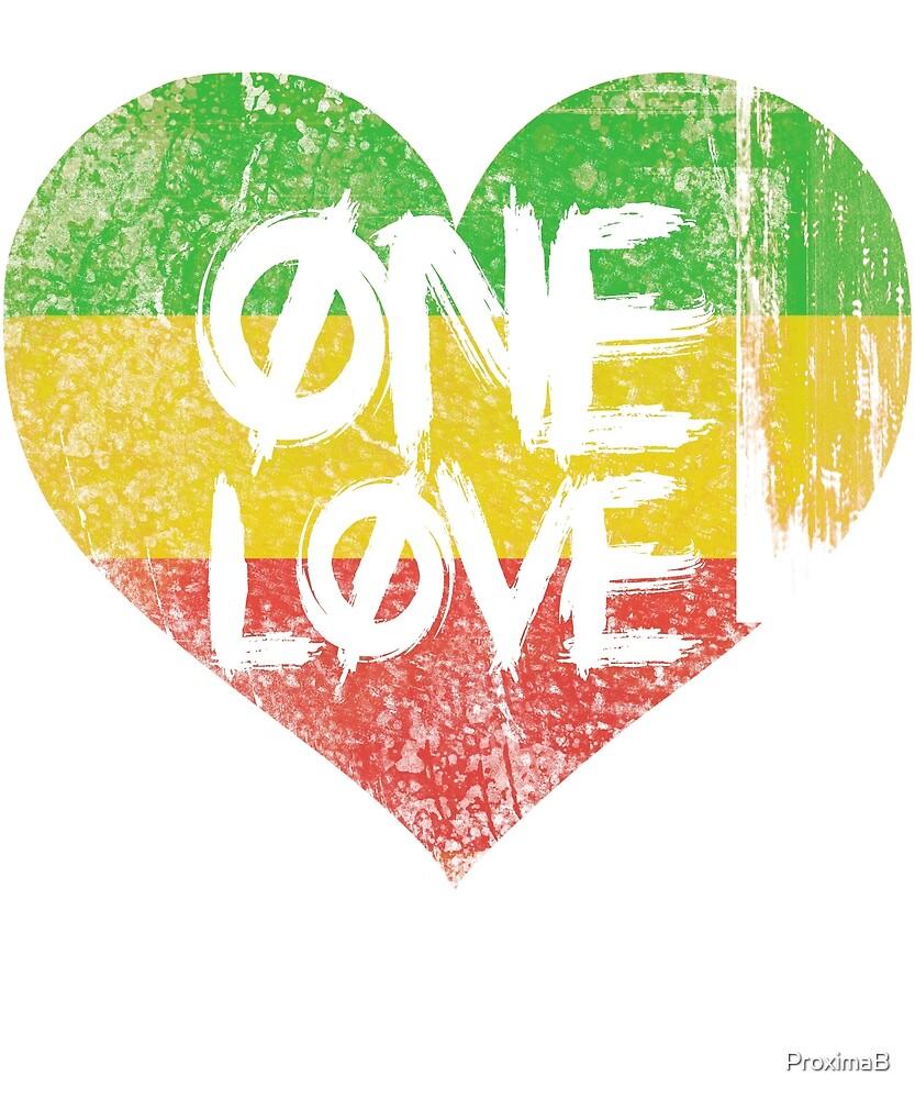 One Love Rasta Heart by ProximaB