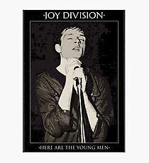 Joy Division Ian Curtis shirt  Photographic Print