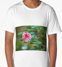 Pink and white petals rose Long T-Shirt