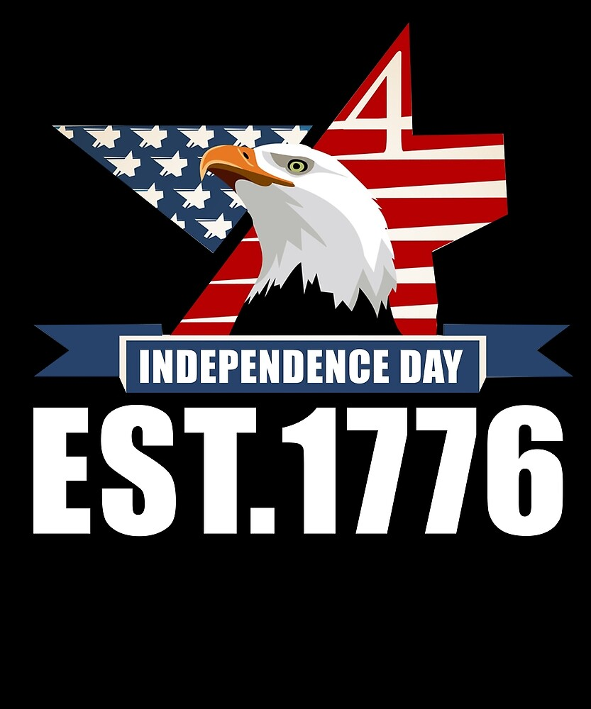 Est. 1776 Eagles Independence Day American Flag T Shirt by sondinh