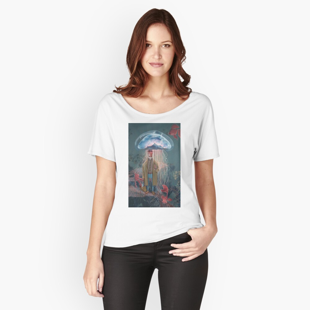 Johnny Eels - The Dapper Under Water Jellyfish Umbrella Man Women's Relaxed Fit T-Shirt Front