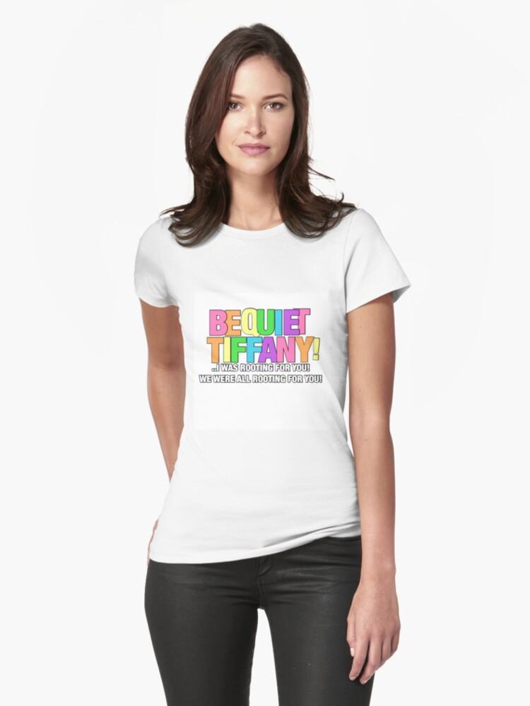Tyra Yelling At Tiffany  Womens T-Shirt Front