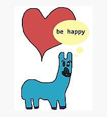 Happy Llama Photographic Print