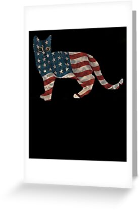 Funny Cat Independence Day Shirt Fourth of July T Shirt by sondinh