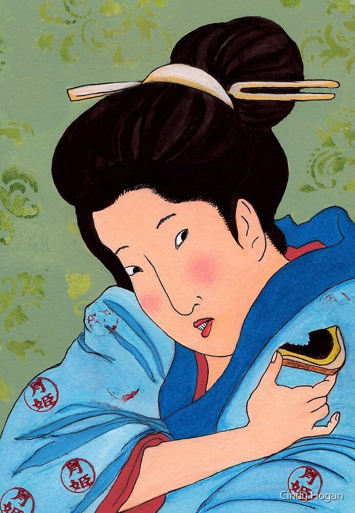 Mrs Hokusai Tries An Australian Delicacy by Cindy Hogan