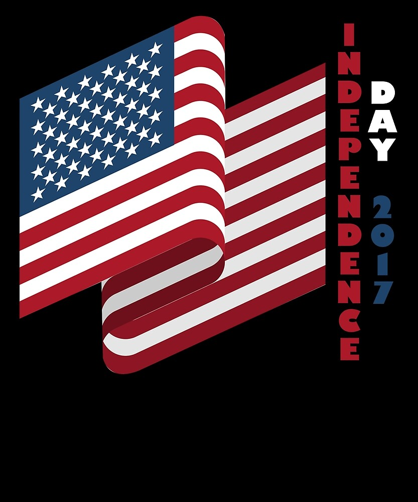 USA Flag Independence Day 2017 T Shirt 4th of July by sondinh
