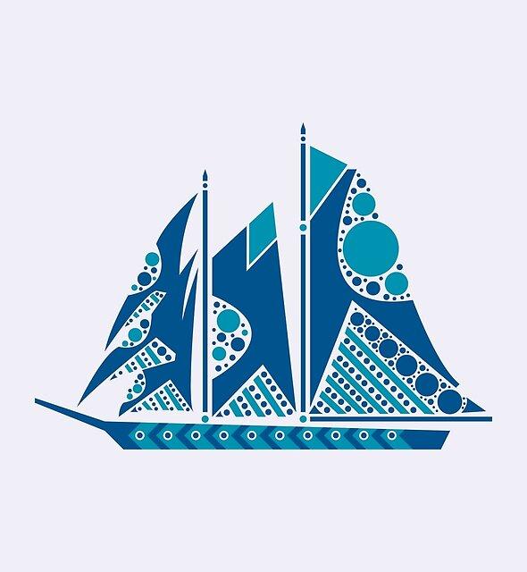 sailboat by Hinterlund