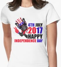 HAPPY INDEPENDENCE DAY T SHIRT 4th of July Women's Fitted T-Shirt