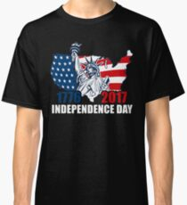 Happy Independence Day T Shirt Flag 1776-2017 Classic T-Shirt