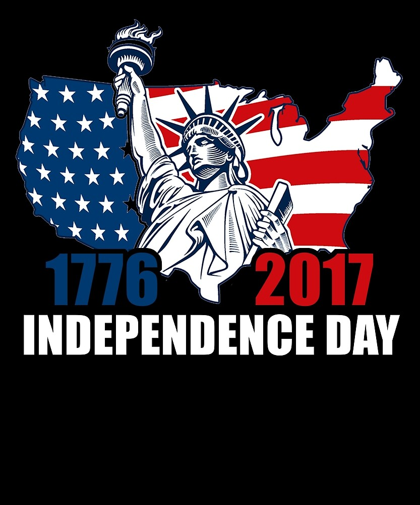 Happy Independence Day T Shirt Flag 1776-2017 by sondinh