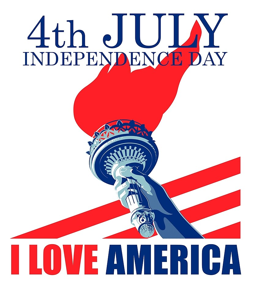 I Love America Independence Day T Shirt 4th of July by sondinh