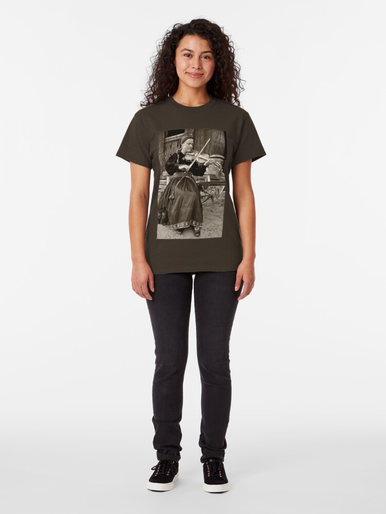 Alternate view of Hardanger fiddle player Classic T-Shirt