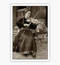 Hardanger fiddle player Sticker