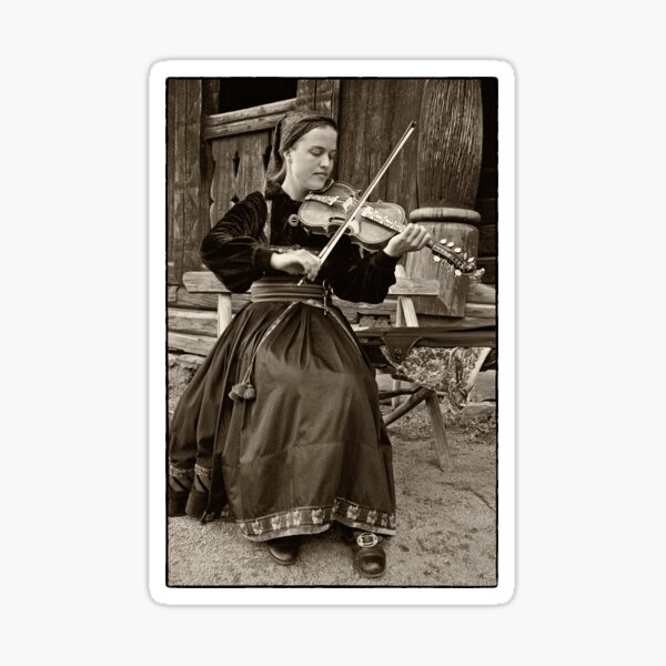 Hardanger fiddle player Sticker