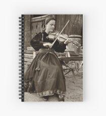Hardanger fiddle player Spiral Notebook