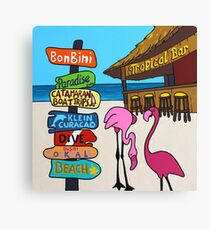 Flamingo Beach Bar Canvas Print
