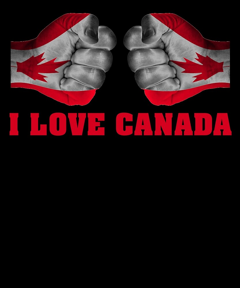 I Love Canada Independence Day T Shirt Canadian Heart Gifts by sondinh