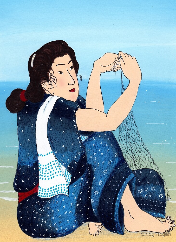 Mrs Hiroshige, Marine Biologist by Cindy Hogan
