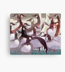 Waddle - Walking with Geese Canvas Print